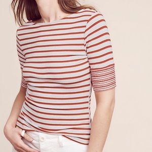 Anthropologie Etoile Striped top by Three Dots